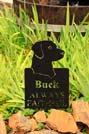 personalized pet memorial in scenic background